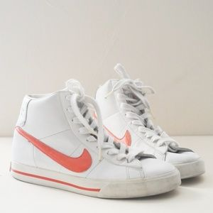 Retro Nike BRS White Leather High Top Sneakers